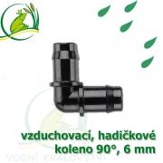 Spojka koleno 90°, PP 6 mm vzduchovací, hadičková