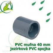 PVC mufna, jezírková spojka 40 mm, lepení/lepení