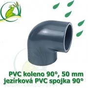PVC koleno 50 mm, jezírková spojka 90°, lepení/lepení
