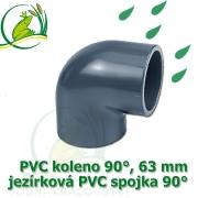 PVC koleno 63 mm, jezírková spojka 90°, lepení/lepení