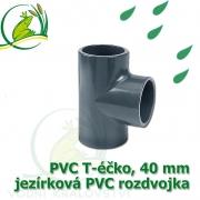 PVC T-éčko, 40 mm, jezírková rozdvojka, lepení/lepení