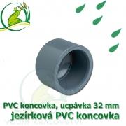 PVC koncovka 32 mm, jezírková zátka