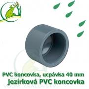 PVC koncovka 40 mm, jezírková zátka