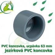 PVC koncovka 63 mm, jezírková zátka