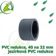 PVC redukce 40 na 32 mm krátká, jezírková