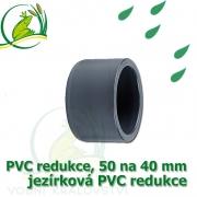 PVC redukce 50 na 40 mm krátká, jezírková