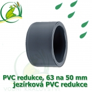 PVC redukce 63 na 50 mm krátká, jezírková