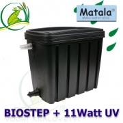 VK Biostep + 11 Watt UV, průtočná filtrace do 10 m3 s matala molitany a keramickými kroužky