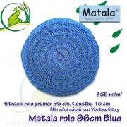 Matala kulatá jemná role, průměr 96 cm, výška 15 cm, POND BLUE, speciálně vhodná pro Vortex Matala
