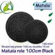 Matala kulatá hrubá role BLACK, průměr 100 cm, výška 15 cm