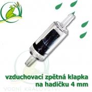 vzduchovací zpětná klapka 4 mm