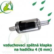 vzduchovací zpětná klapka 4-6 mm