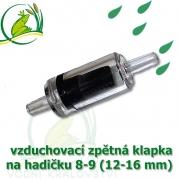 vzduchovací zpětná klapka 8-12 mm