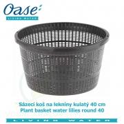 Koš na lekníny kulatý 40cm - Plant basket water lilies round 40