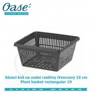 Koš na vodní rostliny čtvercový 19cm - Plant basket rectangular 19