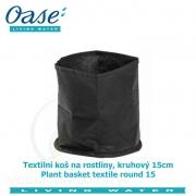 Textilní koš na rostliny, kruhový 15cm - Plant basket textile round 15