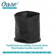 Textilní koš na rostliny, kruhový 25 - Plant basket textile round 25