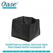 Textilní koš na rostliny, čtvercový 18cm - Plant basket textile rectangular 18