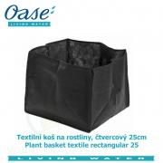 Textilní koš na rostliny, čtvercový 25cm - Plant basket textile rectangular 25