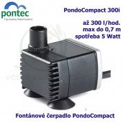 Fontánové čerpadlo - Pontec PondoCompact 300i, max. průtok 300 l/h, výtlak 0,7 m, příkon 5W,