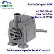 Fontánové čerpadlo - Pontec PondoCompact 800i, max. průtok 800 l/h, výtlak 0,8 m, příkon 17W,