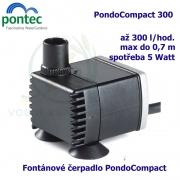 Fontánové čerpadlo - Pontec PondoCompact 300, max. průtok 300 l/h, výtlak 0,7 m, příkon 5W,