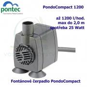 Fontánové čerpadlo - Pontec PondoCompact 1200, max. průtok 1200 l/h, výtlak 2,0 m, příkon 25W,