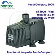Fontánové čerpadlo - Pontec PondoCompact 2000, max. průtok 2000 l/h, výtlak 2,2 m, příkon 30W,