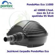 Jezírkové čerpadlo Pontec PondoMax Eco 11000, max. průtok 11000 l/h, výtlak 3,0 m, příkon 95W,