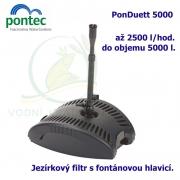 Kompaktní podvodní filtr s fontánovou tryskou - Pontec PonDuett 5000, 2500 litrů/hod