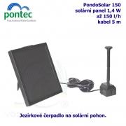 Pontec PondoSolar 150 - Solární fontána s čerpadlem a solárním panelem