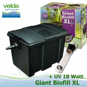 Velká kazetová filtrace GIANT XL+18 Watt ponorné UV, pro jezírka 20-60.000 litrů