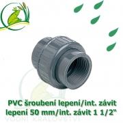 PVC šroubení 50 mm profi, rozpojitelné, lepení/interní závit 1 1/2
