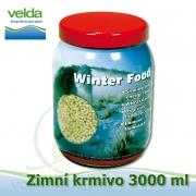 Zimní-celoroční potápivé krmivo pro veškeré druhy ryb a jesetery, 3000 ml, malé granulky cca 2-3 mm, neplovoucí