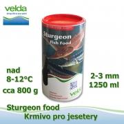 1250 ml jeseteří krmivo o velikosti cca 3 mm, pro malé i velké jesetery, pro celoroční krmení