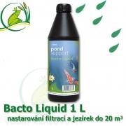 Bacto Liquid 1 litr na 20-50 m3, mix bakterií pro nastartování jezírek a filtrací, projasnění, stabilitu, rovnováhu eko-systému v jezírcích a biotopech
