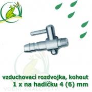 Pochromovaný kohout 4 (6) mm - 1 vývod