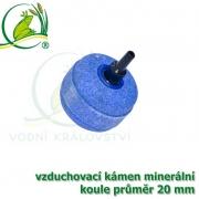 Vzduchovací kámen minerální, koule průměr 20 mm, napojení na 4-6 mm