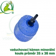 Vzduchovací kámen minerální, koule 35x38 mm, napojení na 4-6 mm