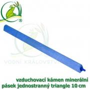 Vzduchovací kámen minerální, triangle, délka 10 cm, napojení na 4-6 mm