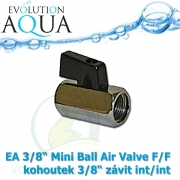 EA 3/8 Mini Ball Air Valve F/F kohoutek 3/8 závit  int/int