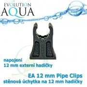 EA 12 mm Pipe Clip - stěnová úchytka na 12 mm hadičky
