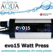 Prefesionální UV zářič evo model 15 Watt, v novém provedení v tlakové verzi, s nulovým odporem.