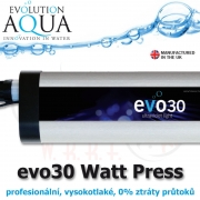 Prefesionální UV zářič evo model 30 Watt, v novém provedení v tlakové verzi, s nulovým odporem.
