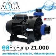 EA ProPump 21000, profesionální čerpadla pro gravitační zapojení, extra nízkou spotřebou a vysokým výkonem, IPX5 i pro koupací jezírka a biotopy, zapojení 2, 21.000 litrů/hod., 5,25 m, 201 Watt