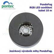 Pontec PondoFog, jezírkový mlhovač s plovákem a LED osvětlením, výrobník mlhy