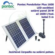 Pontec PondoSolar 1600 - Solární fontána s čerpadlem a solárním panelem