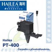 Čerpadlo s přivzdušňováním - Hailea PT-400, max. průtok 420 l/h, výtlak 0,8 m, příkon 5,5W,