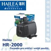 Interiérové univerzální čerpadlo Hailea HR-2000, 1950 litrů/hod., příkon 25 W, výtlak 1,95 m, váha 1,03 Kg,