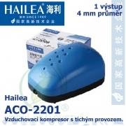 Vzduchovací kompresor tichý Hailea ACO-2201, 1,3 l/min, 1,8 Watt, do 40 db,